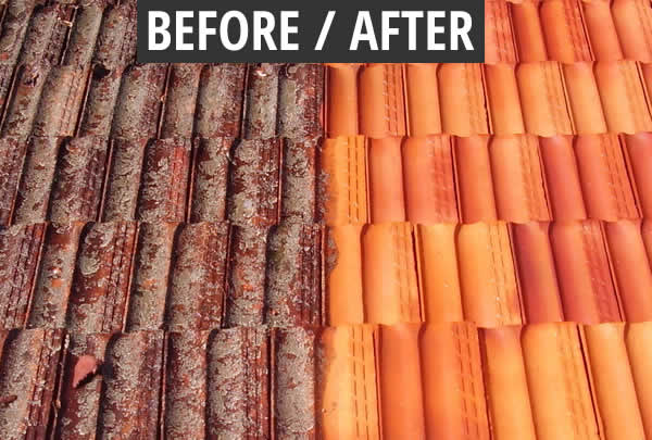 Terracotta Roof Tiles - Before After