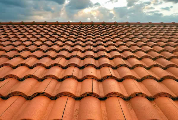 Terracotta Roof Tiles - Curved
